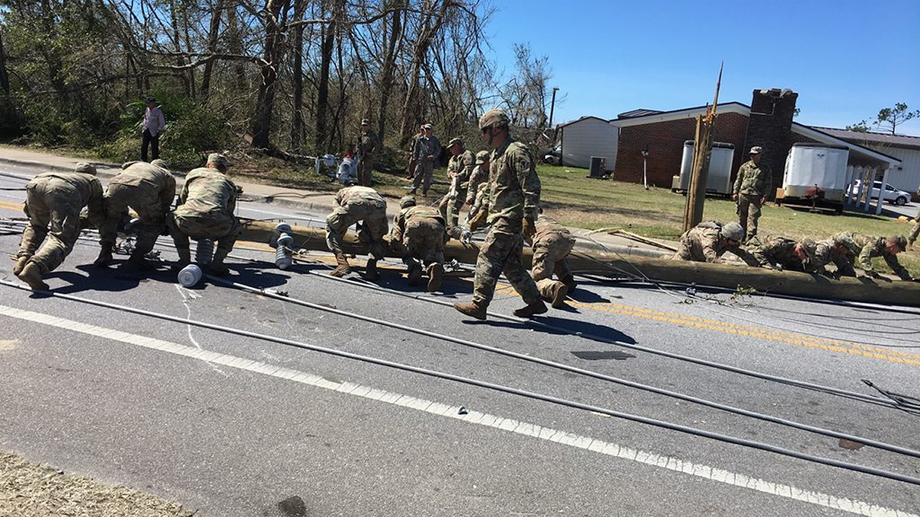 UCF Student and National Guardsman Assists After Hurricane Michael