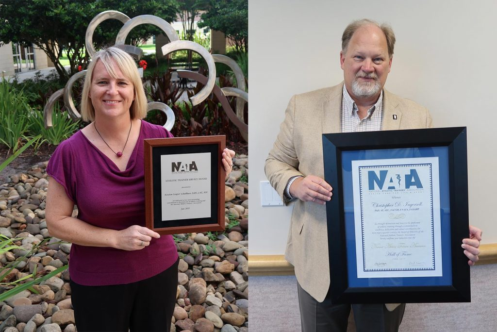 Schellhase, Ingersoll Receive Honors, Recognition from National Athletic Trainers' Association