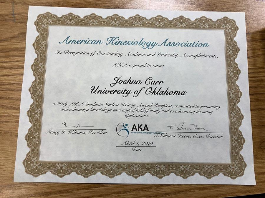 Student collaborator wins prestigious award