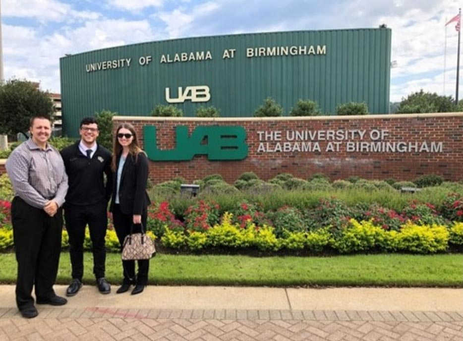Matt Stock, Ryan Girts, and Kylie Harmon visit UAB and Auburn University!