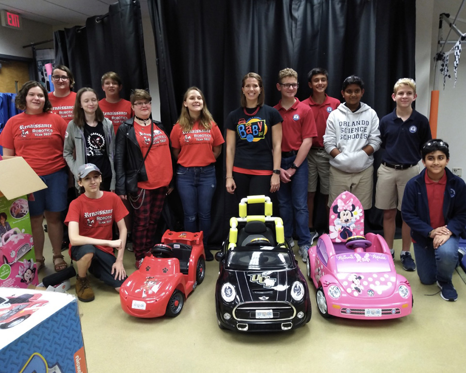Tracking Progress: High-School Student Brings Technology to Go Baby Go!