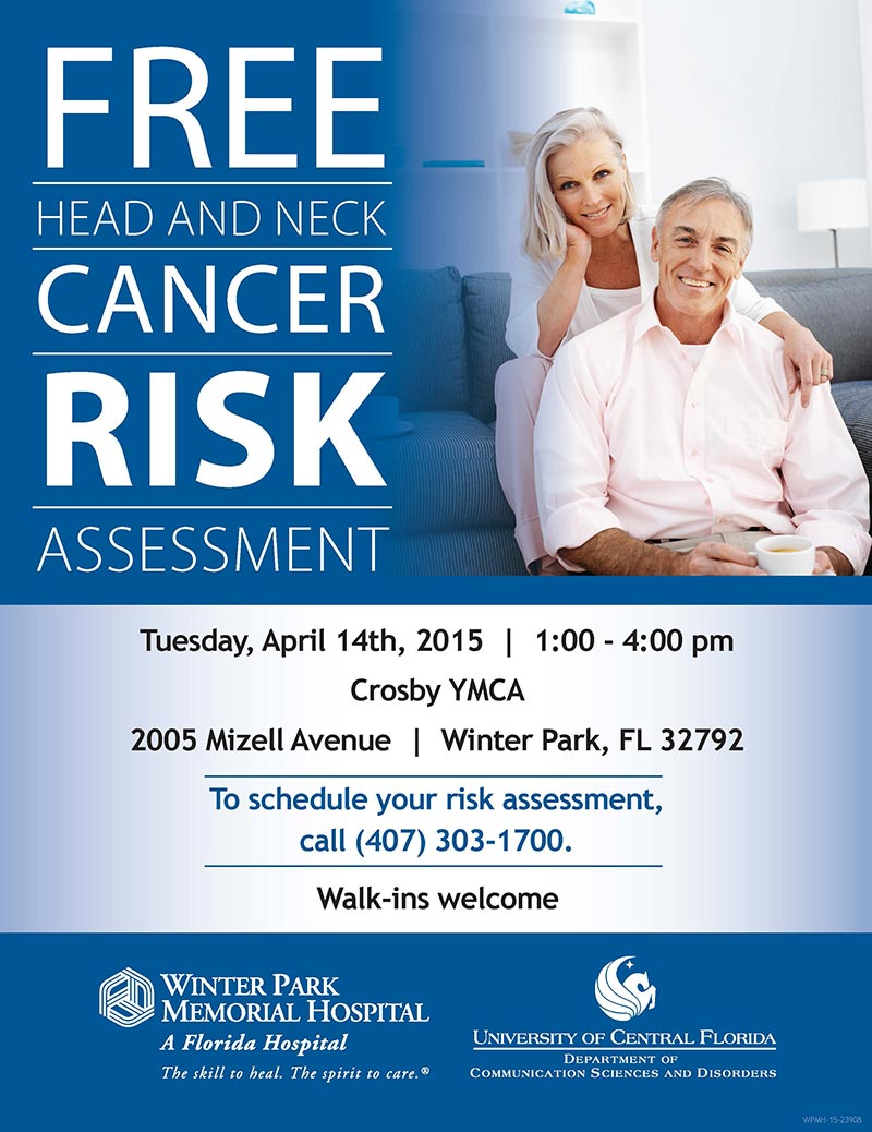 Free Head and Neck Cancer Risk Assessment Available April 14