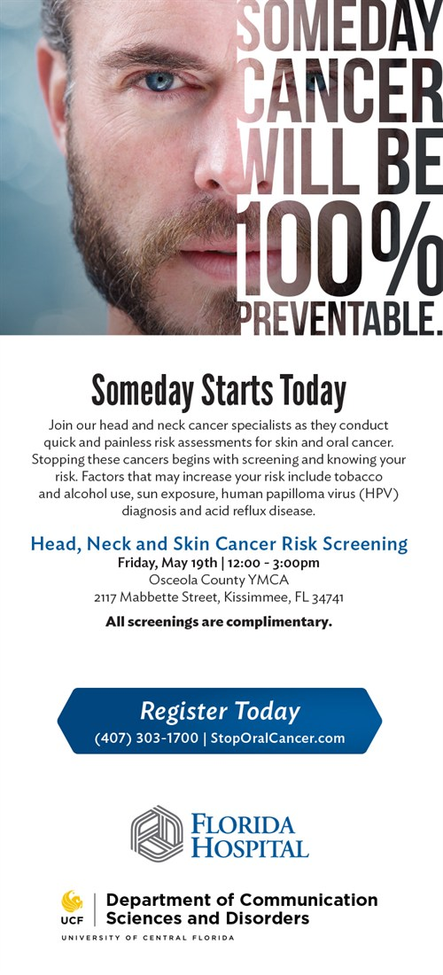 Free Head and Neck Cancer Screenings May 19 in Osceola