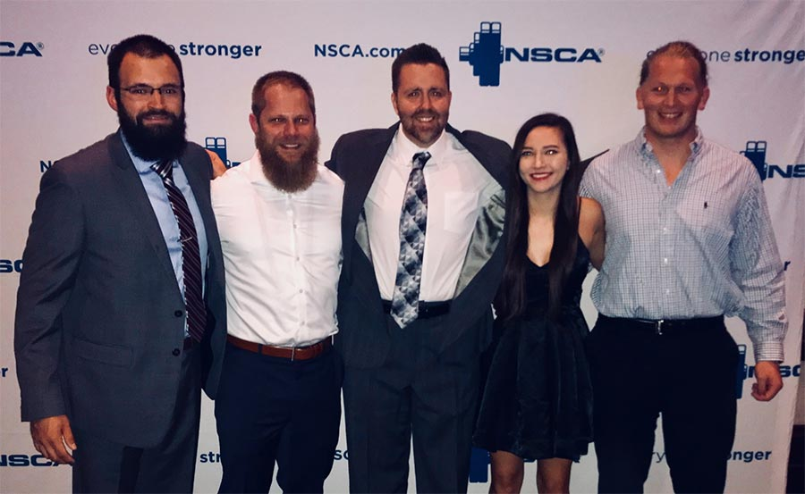 Graduate students attend NSCA national conference, win award