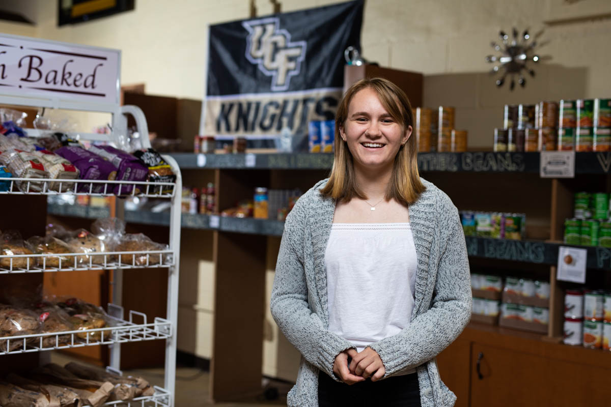 Graduating Knights Pantry Manager Aims to Impact Through Policy