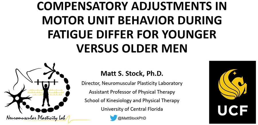 Dr. Stock presents data at 9th annual International Conference on Frailty and Sarcopenia Research