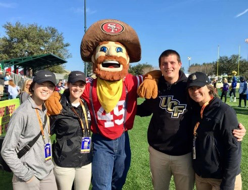 Athletic Training Students Learn From the Pros at NFL Pro Bowl Events