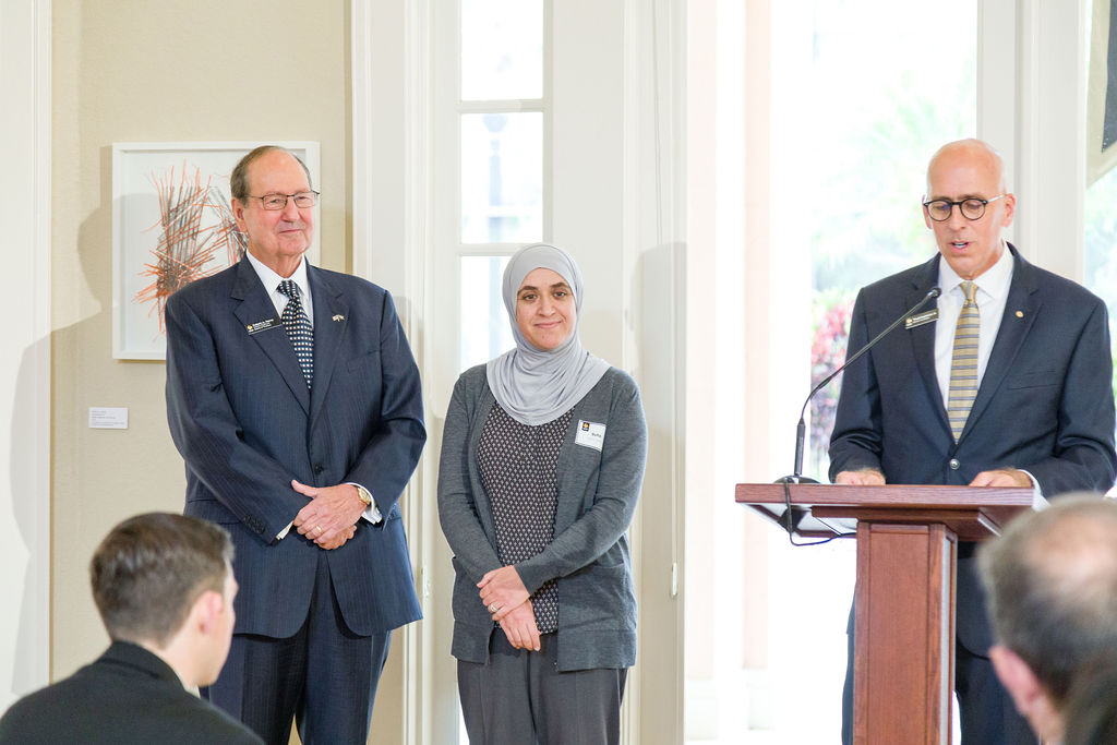 Saleh Honored for Exceptional Leadership of Health Sciences Program