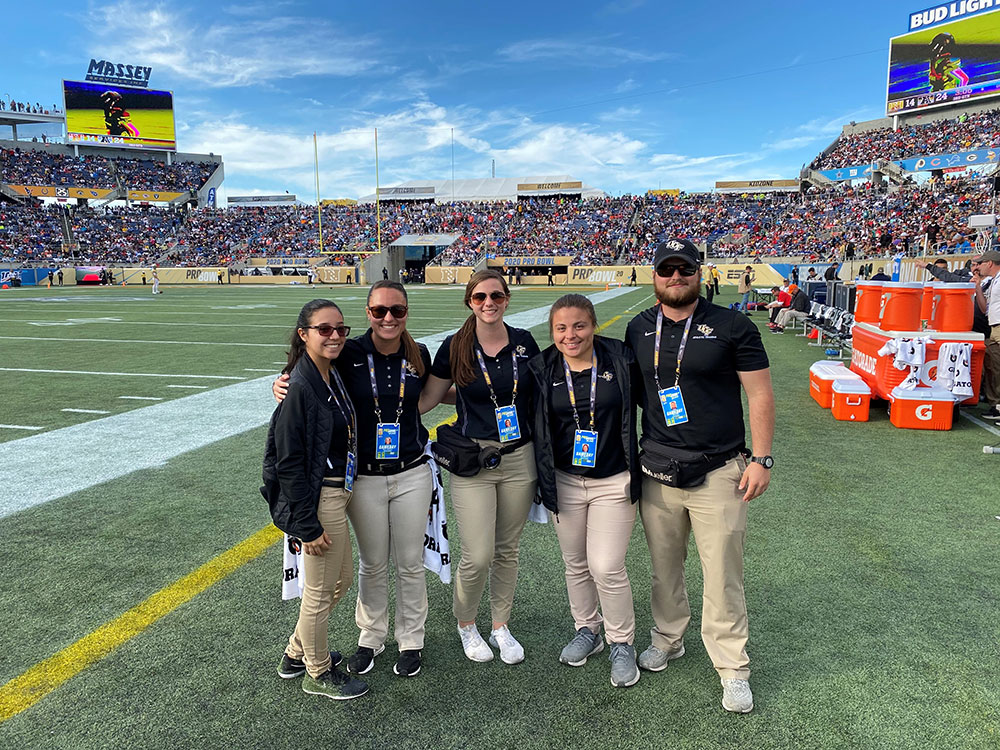 Athletic Training Students Participate in Pro Bowl