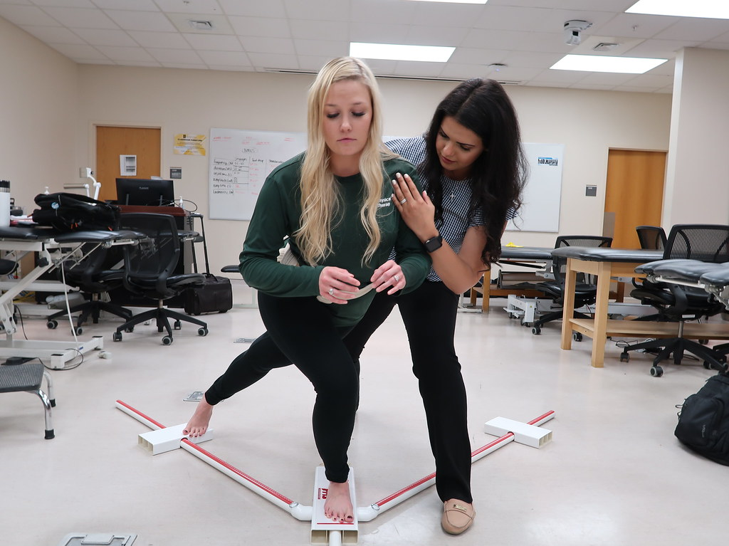 Physical therapy students in class