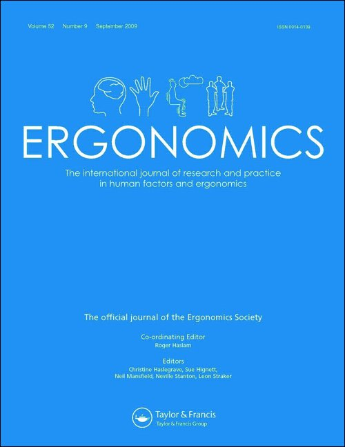 New study published in Ergonomics