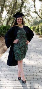 graduate in gown
