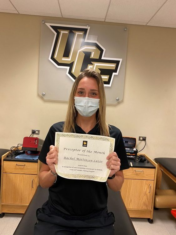 Rachel Mortinsen-Lazer named UCF Athletic Training Preceptor of the Month for August 2020
