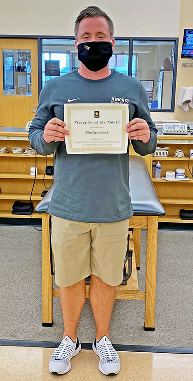 Phillip Croak:  Athletic Training Preceptor of the Month for October 2020