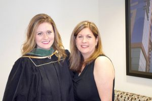 a college graduate and her mom