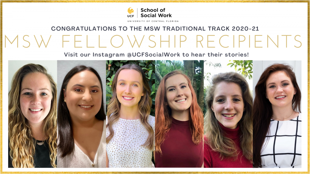 UCF School of Social Work Awards Students a $10,000 Fellowship