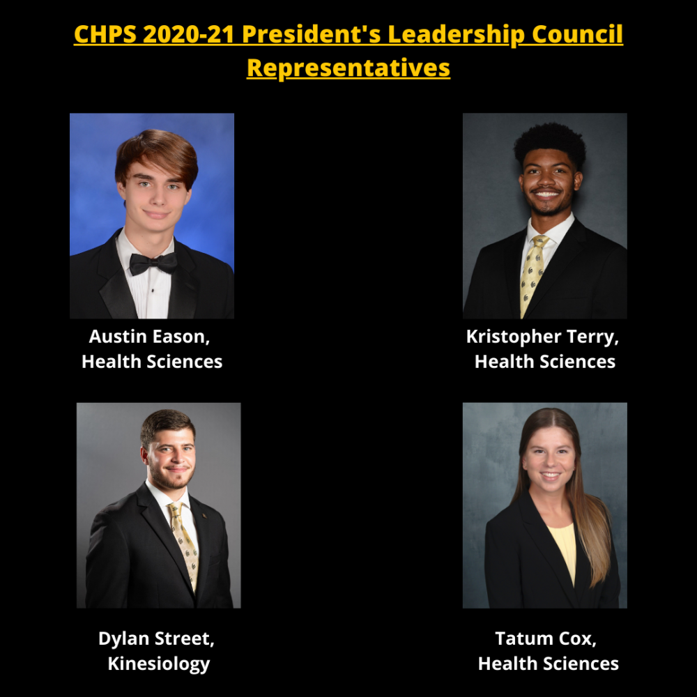 Four CHPS Students are Members of the 2020-21 President's Leadership Council