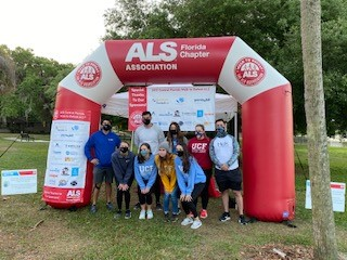 Physical Therapy Students Participate in 2021 Central Florida Walk to Defeat ALS