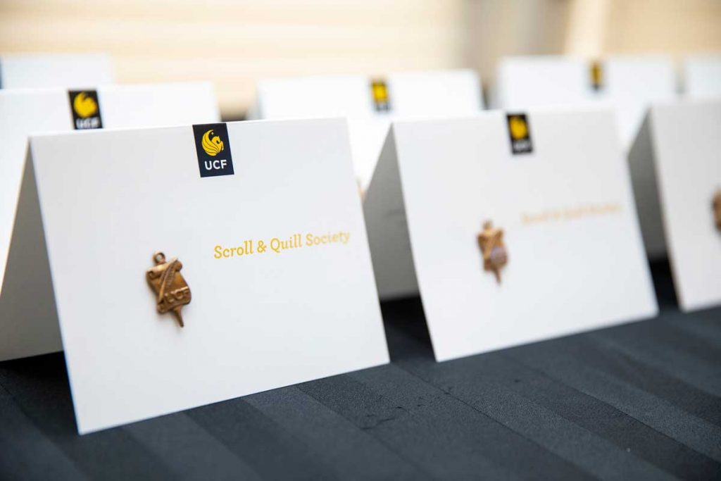 21 Faculty Members Inducted into UCF Scroll and Quill Society